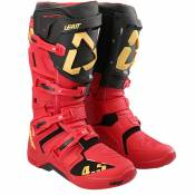Bottes cross Leatt 4.5 - RED BLACK 2021