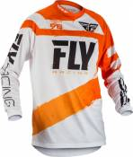 Maillot cross enfant Fly Racing F-16 orange/blanc - YS