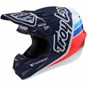 Casque cross TroyLee design SE4 COMPOSITE W/MIPS - SILHOUETTE TEAM - NAVY WHITE 2020