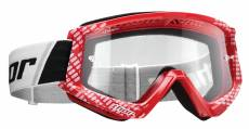Masque cross Thor Combat Cap rouge/blanc