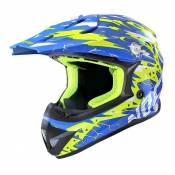 Casque Cross Noend Cracked bleu/jaune - XS