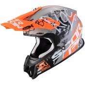 Casque cross Scorpion Exo VX-16 AIR - ORATIO - MATT GREY ORANGE 2021