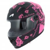 Casque Astone GT2 - GRAPHIC KIDS - LADY CUSTOM BLACK PINK RECONDITIONNÉ