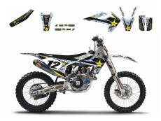 Kit déco + Housse de selle Blackbird Rockstar Energy Husqvarna 501 FE
