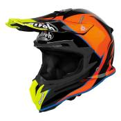 Casque cross Airoh Terminator Open Vision Slider bleu clair/orange bri