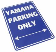 Plaque de parking Yamaha parking only