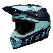 Casque cross Bell Moto-9 Flex Breakaway Mat navy/bleu clair- L