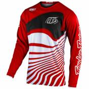 Maillot cross TroyLee design GP - DRIFT - RED BLACK 2020