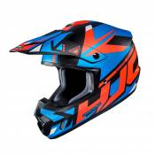 Casque cross HJC CS-MX II Madax bleu/orange - XXL