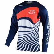 Maillot cross TroyLee design GP YOUTH - DRIFT - NAVY ORANGE