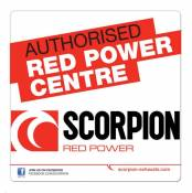 Autocollant Scorpion Authorised Dealer