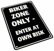 Plaque de parking Biker Zone Only