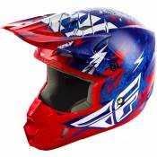 Casque cross enfant Fly Racing Kinetic Shocked bleu/rouge - YL