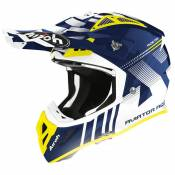Casque cross Airoh AVIATOR ACE - NEMESSI - BLUE GLOSS 2020
