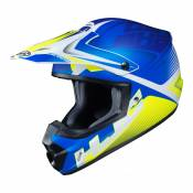 Casque cross HJC CS-MX II Ellusion MC2SF bleu/blanc/vert fluo mat - L