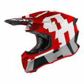 Casque cross Airoh Twist 2.0 Frame rouge mat- S