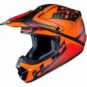 Casque cross Hjc CS MX II - ELLUSION - ORANGE BLACK MATT 2020