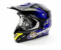Casque cross Scorpion VX-20 AIR SHERCO Bleu Noir - 2XL