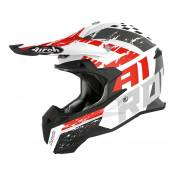 Casque cross Airoh Terminator Open Vision Hanger rouge mat - XL