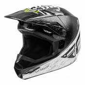 Casque cross enfant Fly Racing Kinetic K120 noir/blanc/jaune fluo - YL