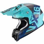 Casque cross Scorpion Exo VX-16 AIR - MACH - MATT BLUE SILVER 2021