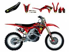 Kit déco + Housse de selle Blackbird Rockstar Energy Honda CRF 450R 09