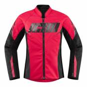 Blouson textile femme Icon Hooligan rouge- XL