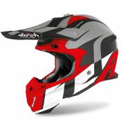 Casque cross Airoh TERMINATOR OPEN VISION - SHOT - RED MATT 2020