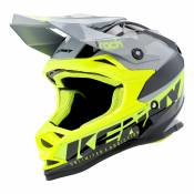 Casque cross enfant Kenny Track Kid Focus gris/jaune fluo - L