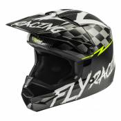Casque cross enfant Fly Racing Kinetic Stretch noir/blanc/jaune fluo m