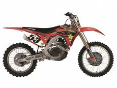 Kit déco + Housse de selle Blackbird Rockstar Energy Honda CRF 450R 13
