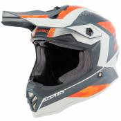 Casque cross Acerbis STEEL ORANGE GREY ENFANT