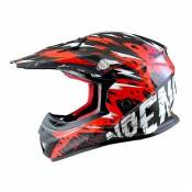 Casque Cross enfant Noend Cracked rouge - YM