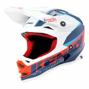 Casque cross enfant Kenny Track Kid Focus navy/blanc - L