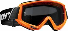 Masque cross Thor Combat Sand orange fluo