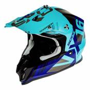 Casque cross Scorpion VX-16 Air Mach bleu/argent mat- S