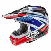 Casque cross Arai MX-V Day Red rouge/noir/bleu - XS
