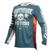 Maillot cross FASTHOUSE GRINDHOUSE SWELL SLATE WHITE ENFANT