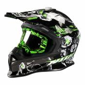 Casque cross Nox N631 DEATH vert- XL