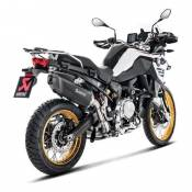 Silencieux Akrapovic titane noir embout carbone BMW F 850 GS Adventure