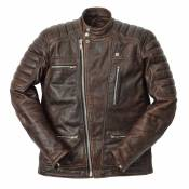 Blouson cuir Ride And Sons EMPIRE Cow Skin marron - S