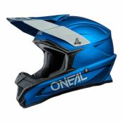 Casque cross O'Neal 1SRS Solid bleu- XS