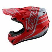 Casque cross Troy Lee Designs GP Polyacrylite Silhouette rouge/argent-