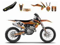 Kit déco + Housse de selle Blackbird Rockstar Energy KTM 250 SX-F 07-1