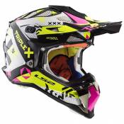Ls2 Subverter Triplex 63-64 cm Black / High Vis Yellow / Pink