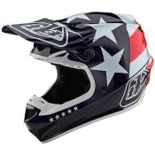 Casque cross TroyLee design SE4 POLYACRYLITE W/MIPS - FREEDOM - RED WHITE BLUE 2020