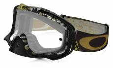 Masque cross Oakley Crowbar Mosh Pit Gold noir/or