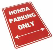 Plaque de parking Honda parking only