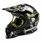 Casque cross Nox N631 DEATH jaune- XL