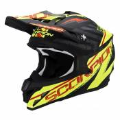 Casque cross Scorpion VX-15 EVO AIR Gamma Noir mat/Jaune fluo - S